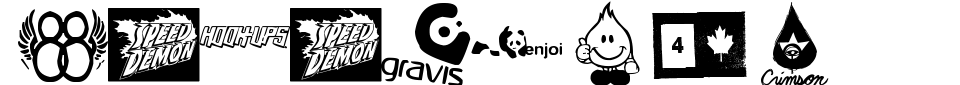 Vorschau der Schriftart - Logoskate