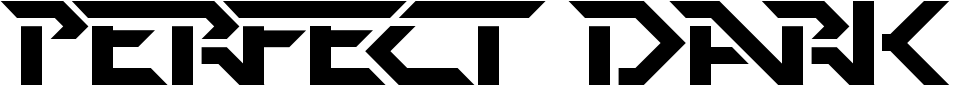 Perfect Dark Font Generator Preview