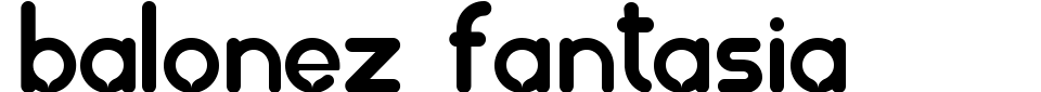 Balonez Fantasia Font Generator Preview