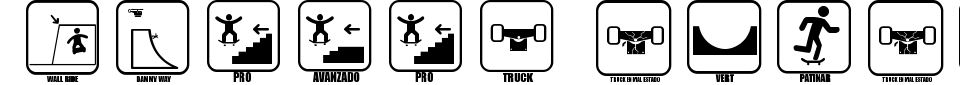 Anteprima - Font Iconos Skate