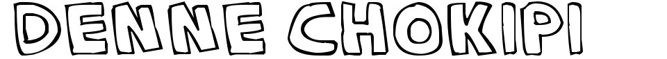 Denne Chokipi Font Preview