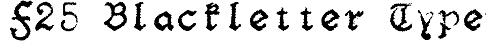 Visualização - Fonte F25 Blackletter Typewriter