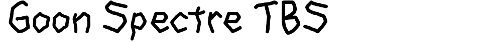Goon Spectre TBS Font Preview