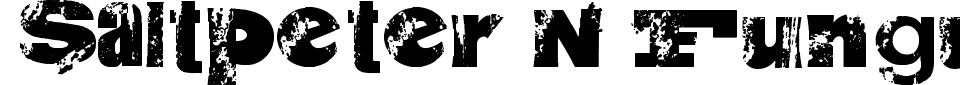 Anteprima - Font Saltpeter N Fungus
