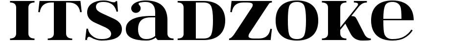 Vorschau der Schriftart - Itsadzoke