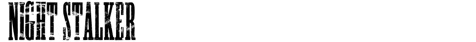 Night Stalker Font Preview