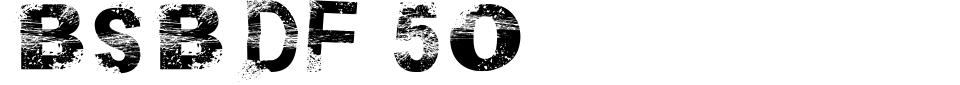 Anteprima - Font BSB DF 50