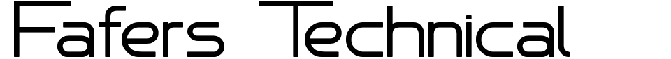 Vorschau der Schriftart - Fafers Technical