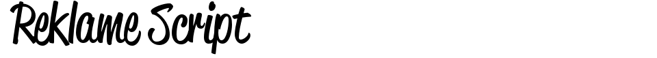 Reklame Script Font Preview