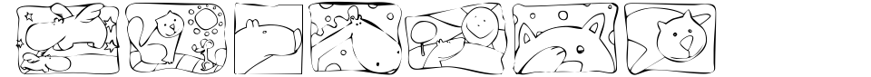 Vorschau der Schriftart - KR Scrappin Squares