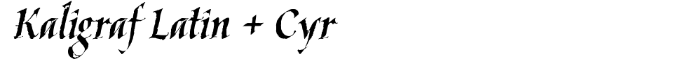 Kaligraf Latin + Cyr Font Preview