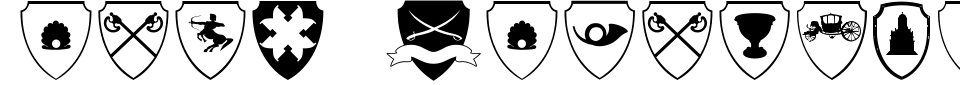 Easy Heraldics Font Generator Preview