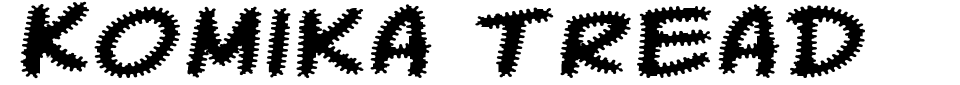 Vista previa - Fuente Komika Tread