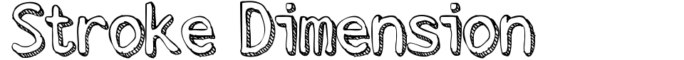 Stroke Dimension Font Preview