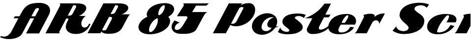 Vorschau der Schriftart - ARB 85 Poster Script JAN-39