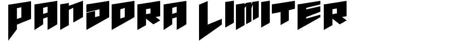 Anteprima - Font Pandora Limiter
