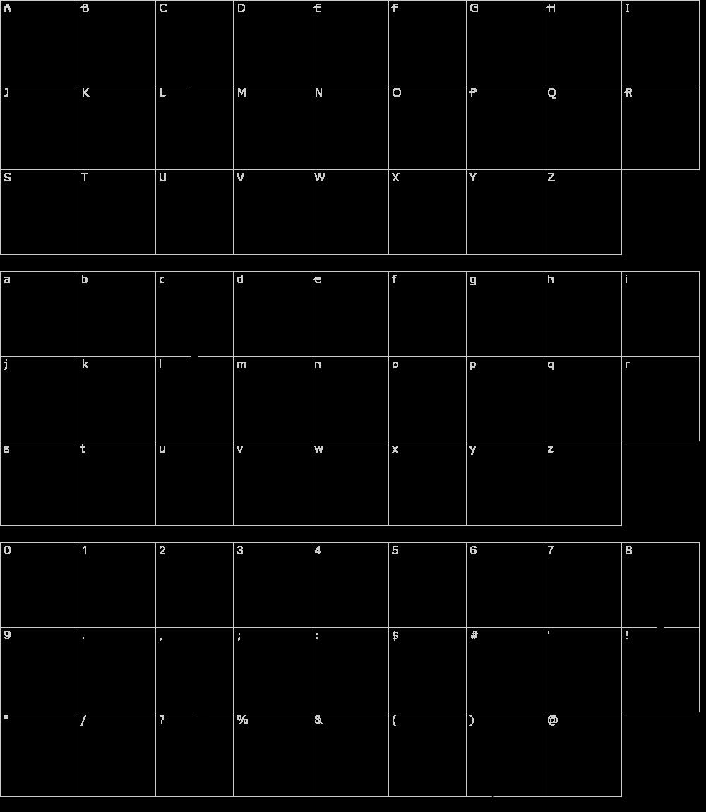 字体字符: Cubic