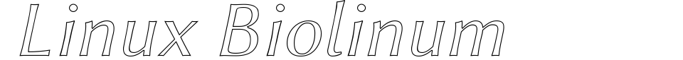 Linux Biolinum Font Generator Preview