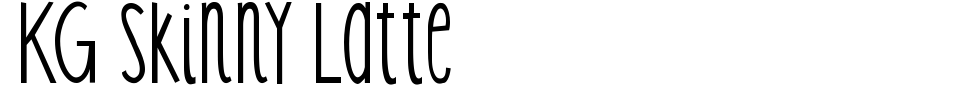 KG Skinny Latte Font Preview