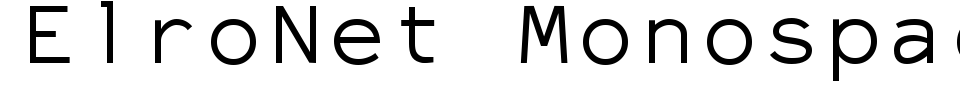 Vista previa - Fuente ElroNet Monospace