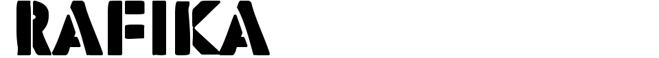Vorschau der Schriftart - Rafika