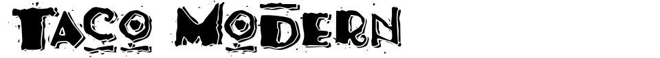 Visualização - Fonte Taco Modern