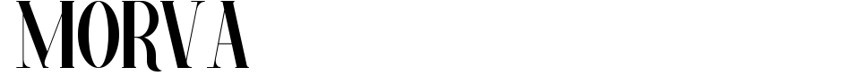 Morva Font Preview