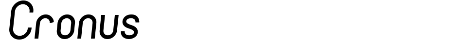 Cronus Font Preview
