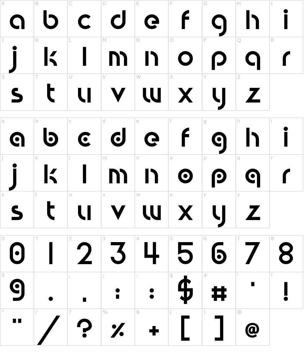 Circular Abstracts Font Download