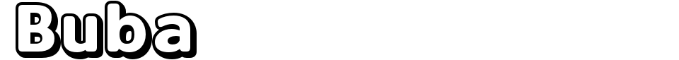Vorschau der Schriftart - Buba