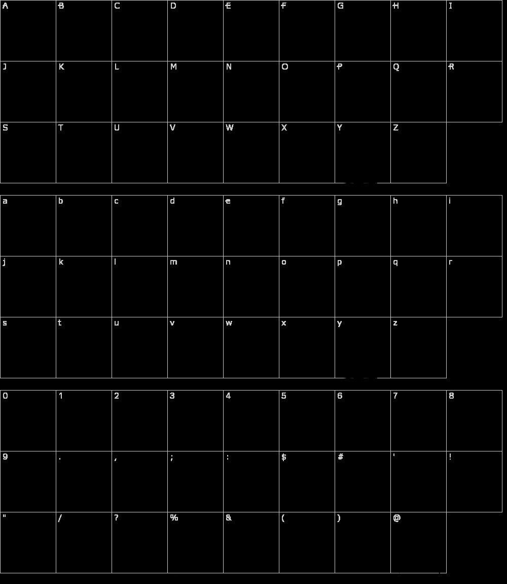 字体字符: Alphabits Squared