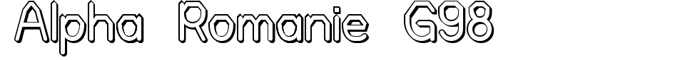 Alpha Romanie G98 Font Generator Preview