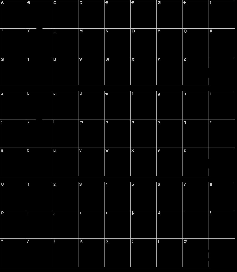 Zeichen der Schriftart: Vari Shapes