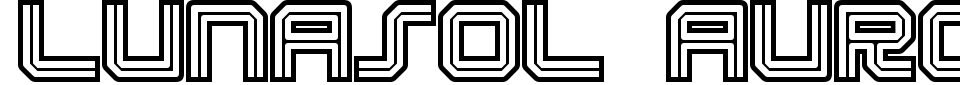 Lunasol Aurora Font Generator Preview