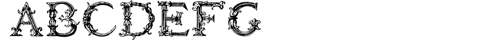 字体预览:Burgoyne