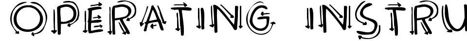 Vorschau der Schriftart - Operating Instructions