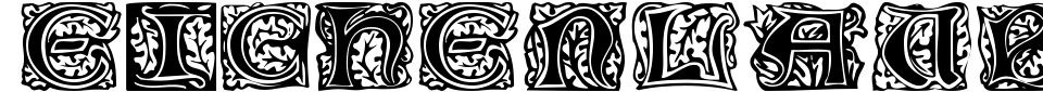 Eichenlaub Initialen Font Preview
