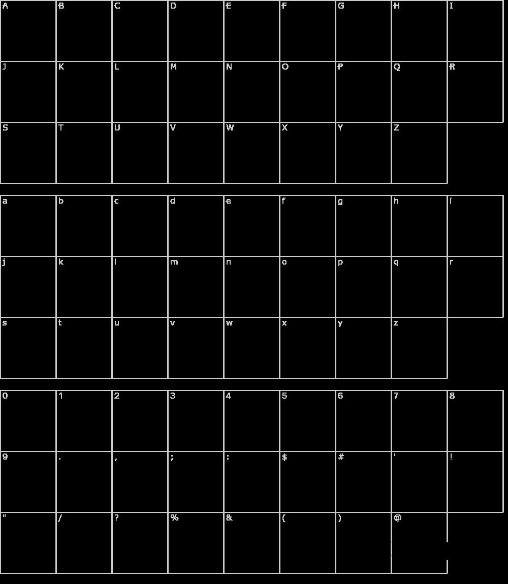 Caratteri del Font - KleenBlades LDR