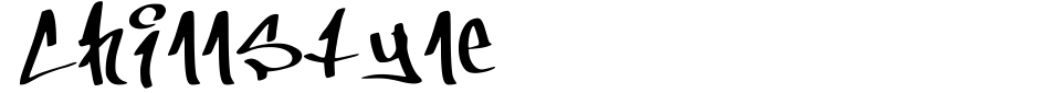 Vorschau der Schriftart - ChillStyle
