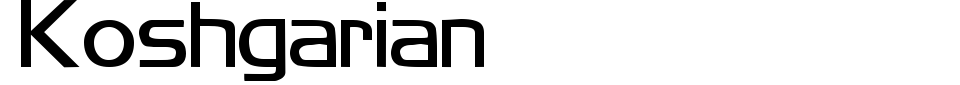 Koshgarian Font Preview