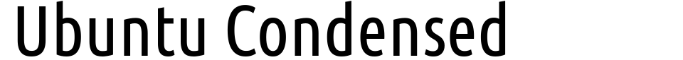 Ubuntu Condensed Font Generator Preview