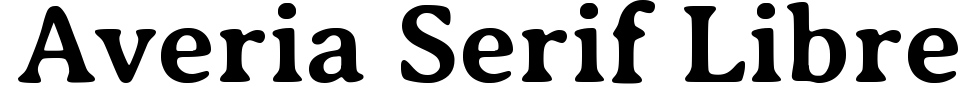 Averia Serif Libre Font Generator Preview