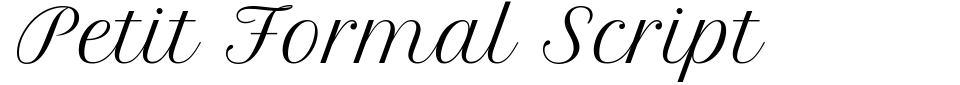 Petit Formal Script Font Preview