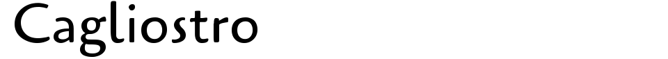 字体预览:Cagliostro