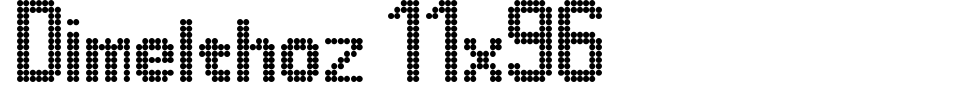 フォントプレビュー:Dimelthoz 11x96