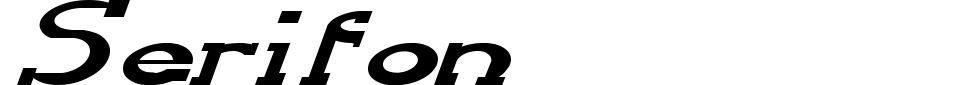 Serifon Font Generator Preview