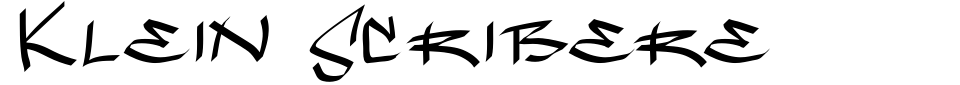字体预览:Klein Scribere