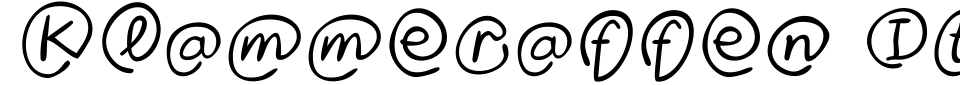 Klammeraffen Italic Font Generator Preview