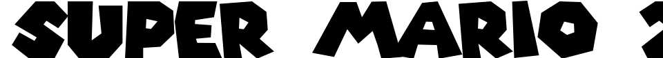 Super Mario 256 Font Preview