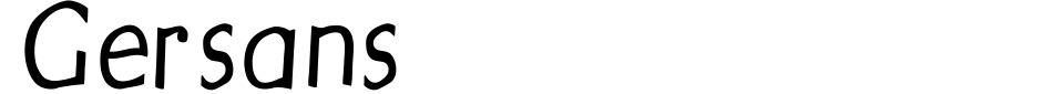 Gersans Font Generator Preview